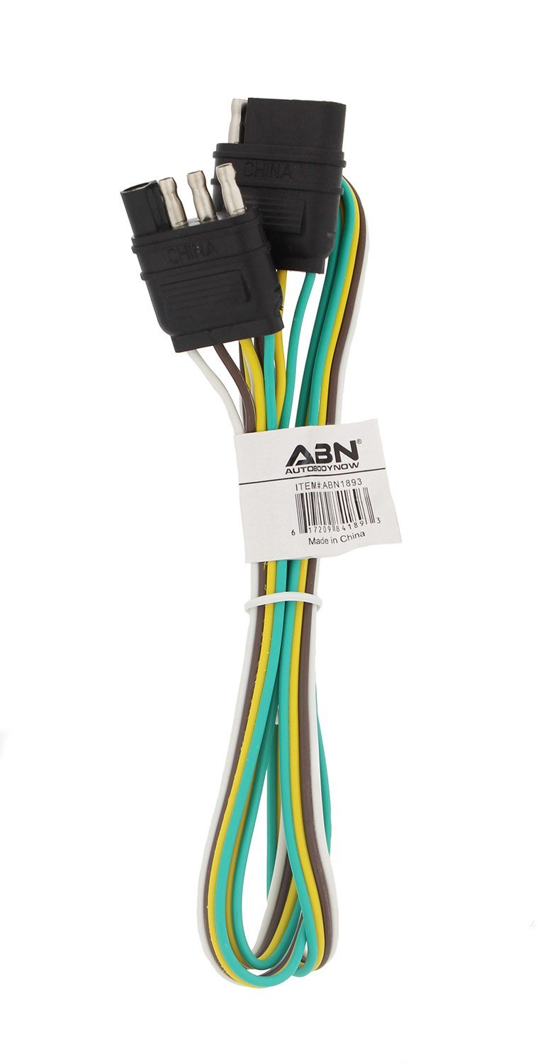 Get Quotations · ABN Trailer Wire Extension, 4' Foot, 4-Way 4-Pin Plug