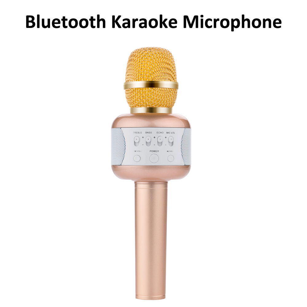 Handheld Portable Wireless bluetooth 4.2 karaoke microphone for KTV
