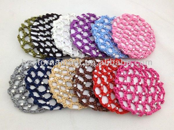 New Bun Cover Snood Crystal Hair Net Buy Fashion Hair Netshair