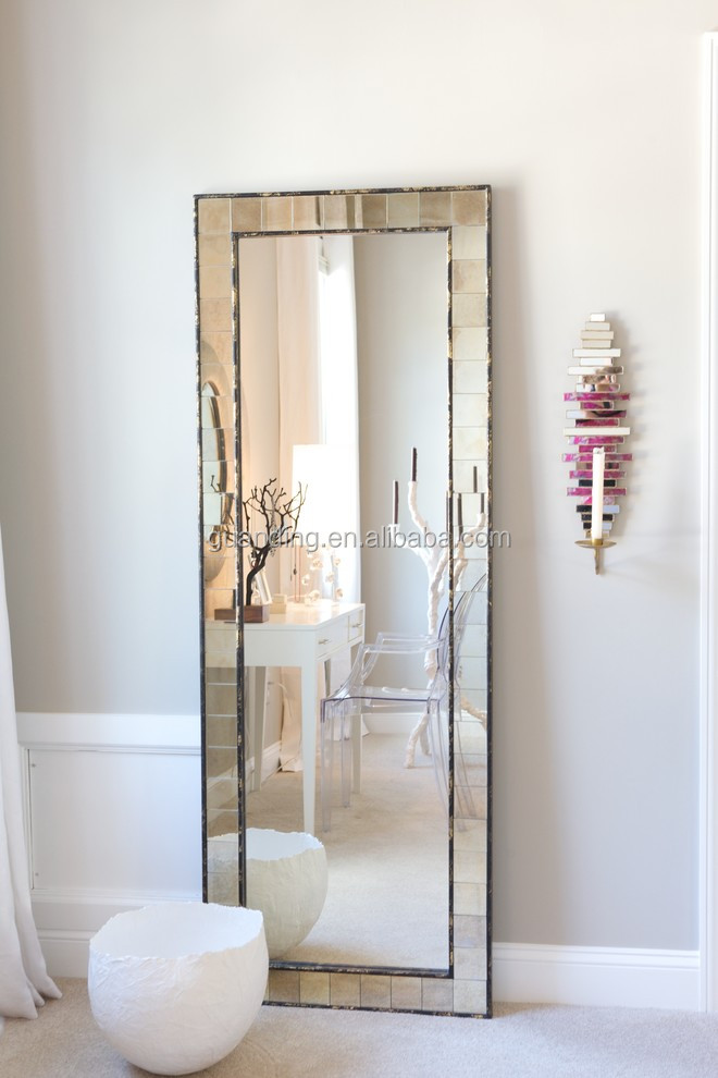 Floor Standing Full Length Gl Mosaic Mirror Home Bedroom Hairdresser Decor
