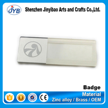 cheapest direct factory custom blank plastic pin acrylic name badges