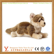 Realistic stuffed live animal toys plush wolf cub toy for kids