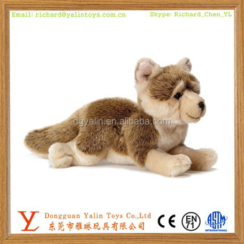 Realistic Stuffed Live Animal Toys Plush Wolf Cub Toy For Kids Buy