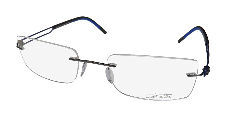 d0ff83f7024 Get Quotations · Silhouette 5361 Mens Rectangular Rimless Titanium  Eyeglasses Eyeglass Frame