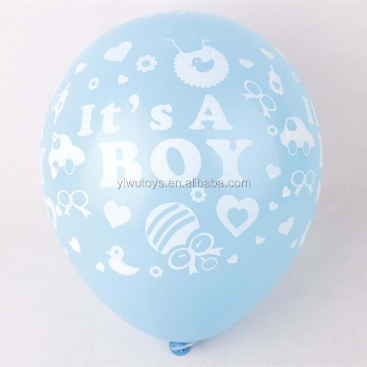 YIWU inflatable decoration it's a boy export latex balloon