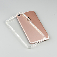 Premium shockproof silicone rubber transparent phone covers for iphone 8 case TPU crystal clear