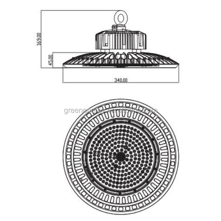 DLC ETL CE led hibay свет 100 Вт 150 Вт 200 Вт 240 Вт IP65 НЛО светодиодный высокий свет залива промышленный