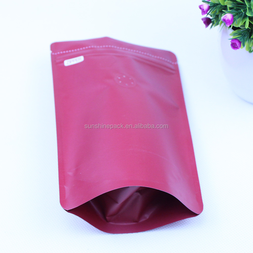 Factory custom print size food packing bag flat bottom transparent zipper pouch with zipper bag cashew nuts nylon zipper pouch