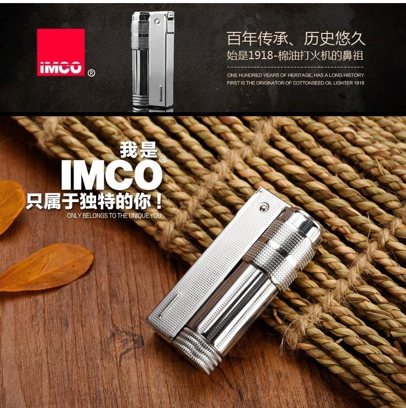 Original Austria IMCO 6700 Brand silver oil lighter,Novelty metal vintage  kerosene men's cigarette Gasoline lighter briquet