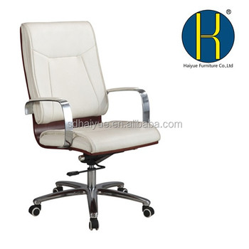 Ciff Swivel Wood Office Chairs With Castors High Back Casters White Pu Wooden
