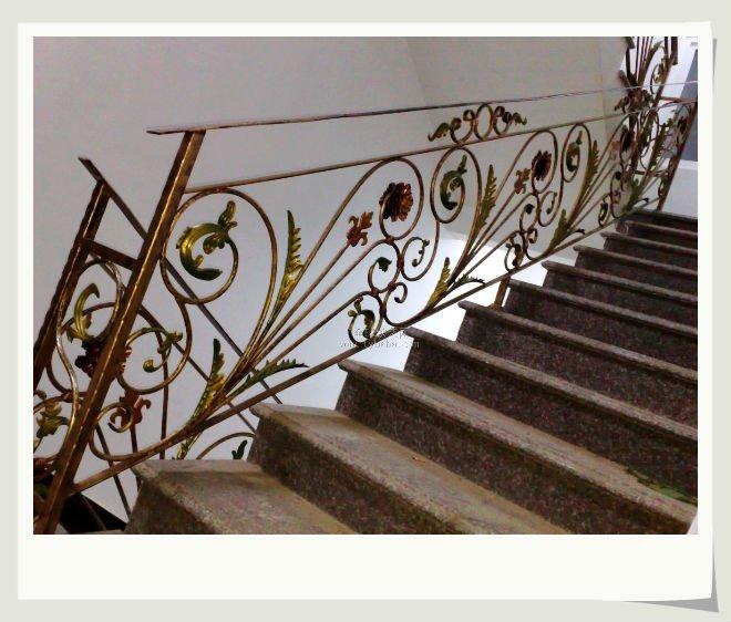 Art stico moderno hierro forjado barandilla de la escalera - Pasamanos de hierro forjado para escaleras ...