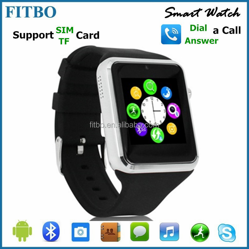 Portable FM + Facebook bluetooth watch bracelet for iphone 5 5s 6 6s/Samsung S5 phone