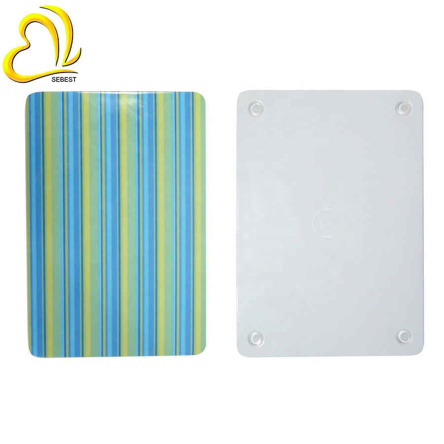 Novelty Line Design Melamine Square Vegetable Cutting Board