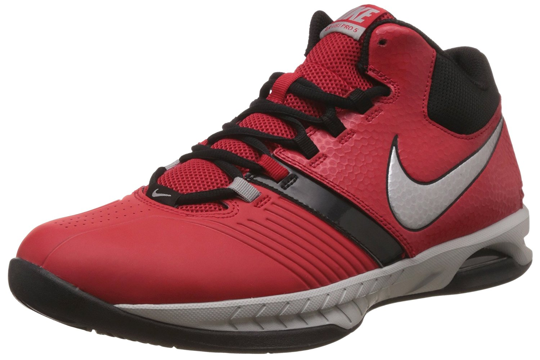 Get Quotations · Nike Men s Air Visi Pro V Unvrsty Rd Mtllc Slvr Blk Flt  Basketball e6c96795f