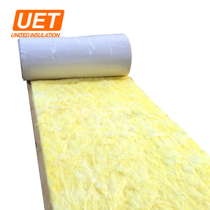 Popular sale 24kg/m3 thickness 50mm glass wool with white WMP