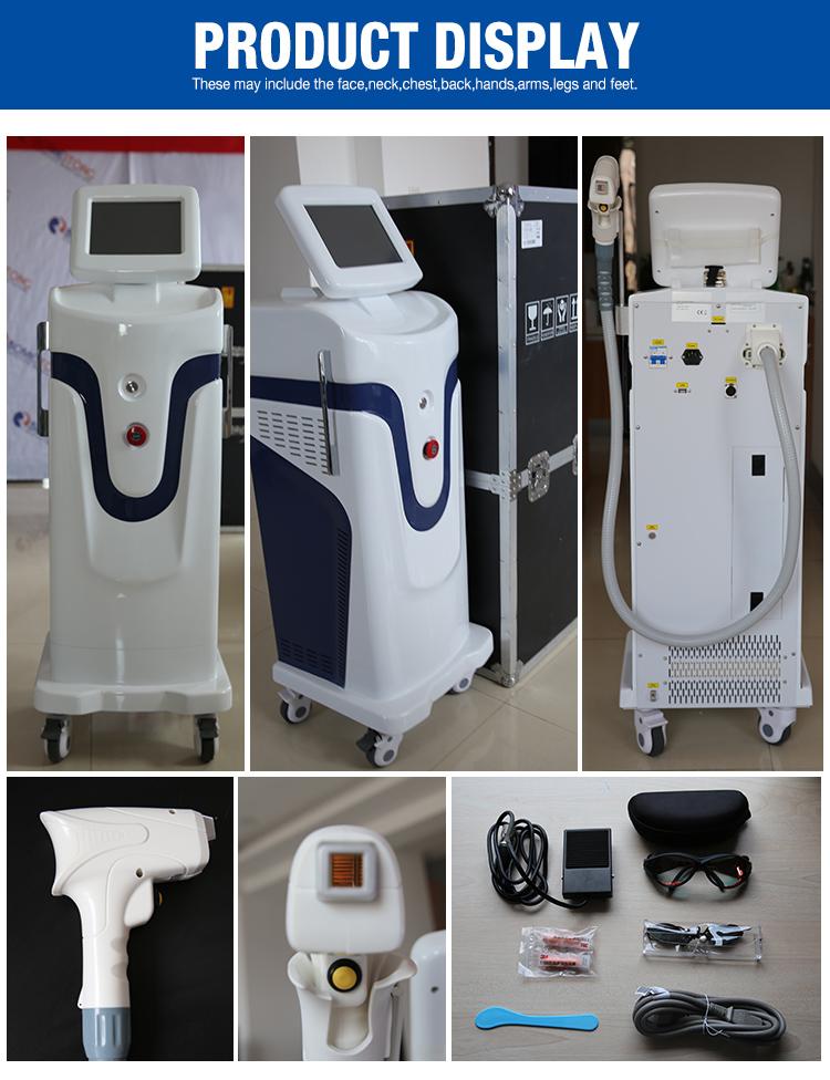 医療 CE 承認 3 波長ダイオードレーザー 755nm 808nm 1064nm