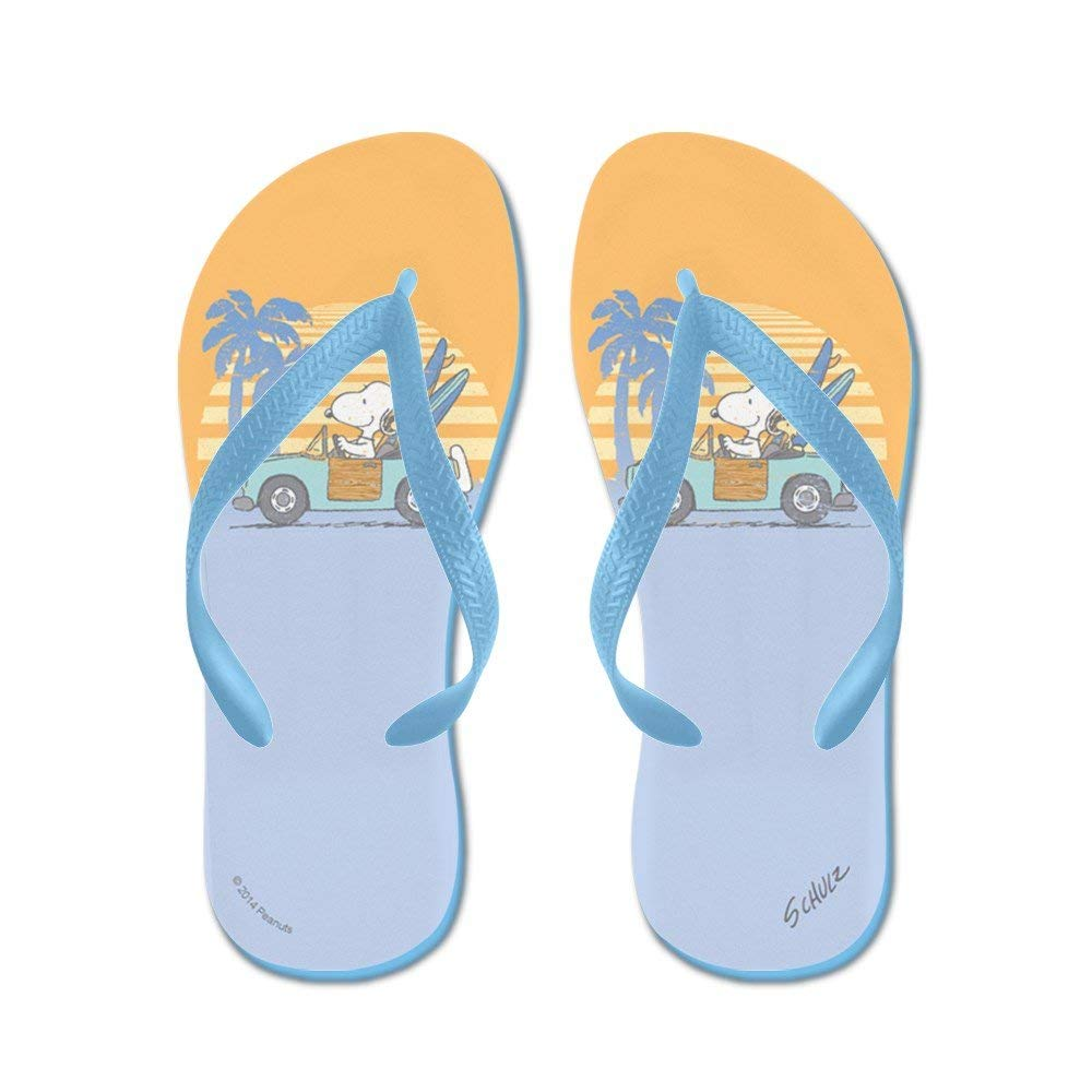 e55ae63ab3f Get Quotations · CafePress Snoopy Beach - Flip Flops