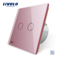 Livolo VL-C702R-17 EU Standard 2 Gang 1 Way Smart Touch Remote Wall Switch