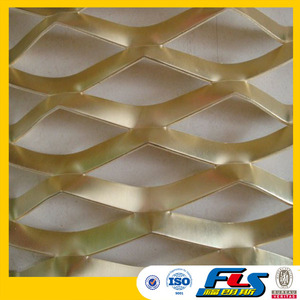 Brass/Copper/Aluminum Decorative Expanded Metal Mesh