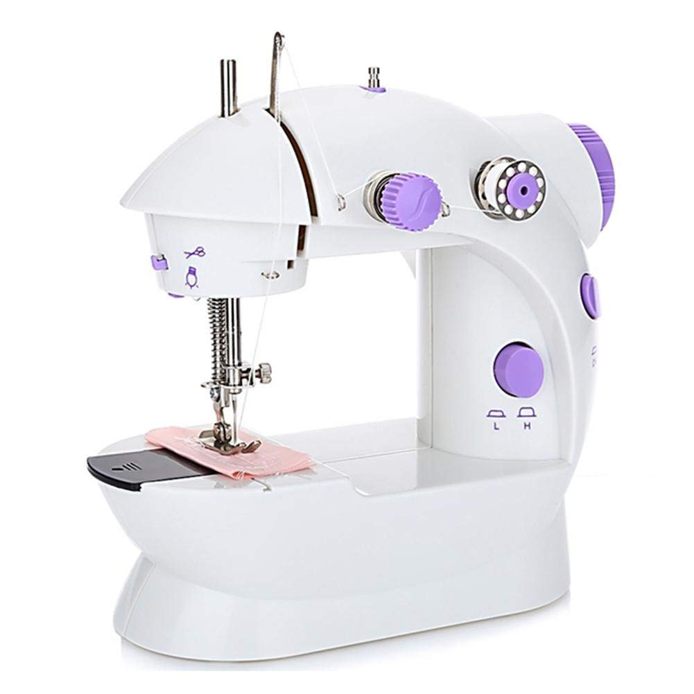Get Quotations · Rundaotong-US Mini Sewing Machine - Professional Portable  Electric Household Sewing Machine with Double Speed