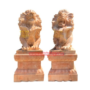 Hot Sale marble life size stone lion garden Animal Sculpture for sale