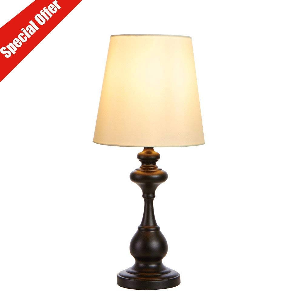 Get Quotations Sottae Black Metal Basic Desk Lamp Bedroom Bedside Table Beige Fabric Shade Living Room