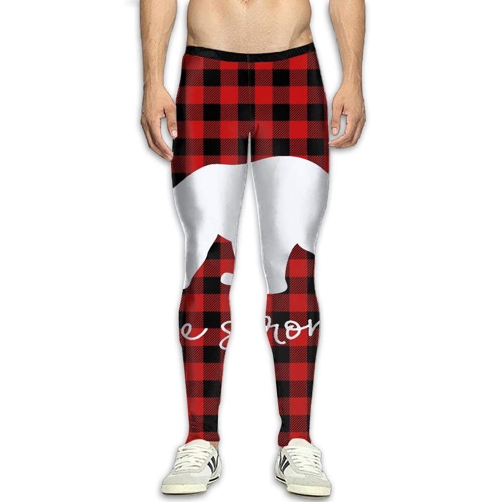 Fri Plaid Comfort Compression Pants//Running Tights Leggings Female Winter