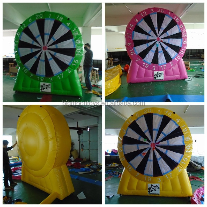 Amusement inflatable velcro shooting target game