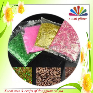 Extra fine glitter powder for rubber and plastic injection
