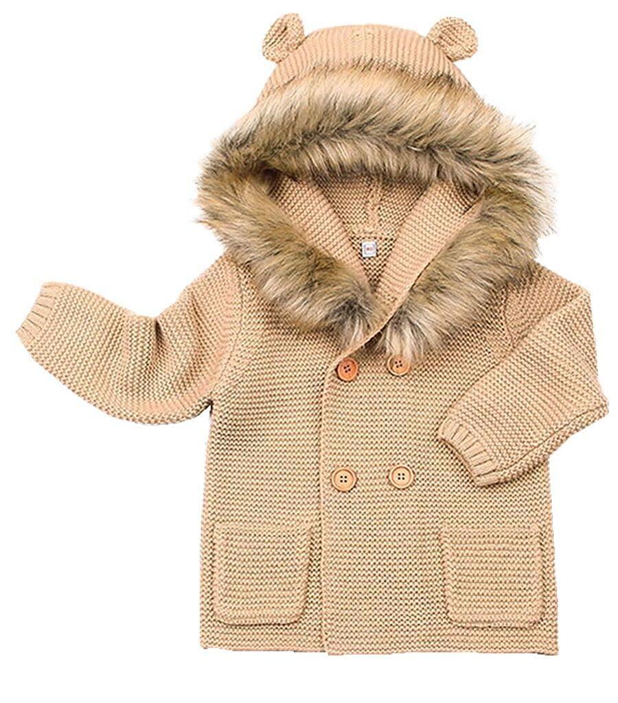 Toby /& Company Unisex Baby Faux Fur Critter Trapper 2 Piece Set Infant