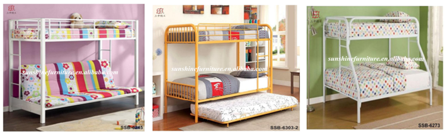 Multiuse Antirust Metal Double Layer Bunk Bed For Italian Qatar