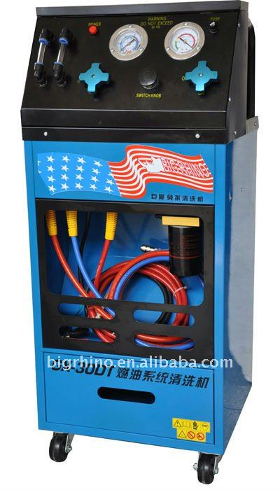 Fuel system flush machine