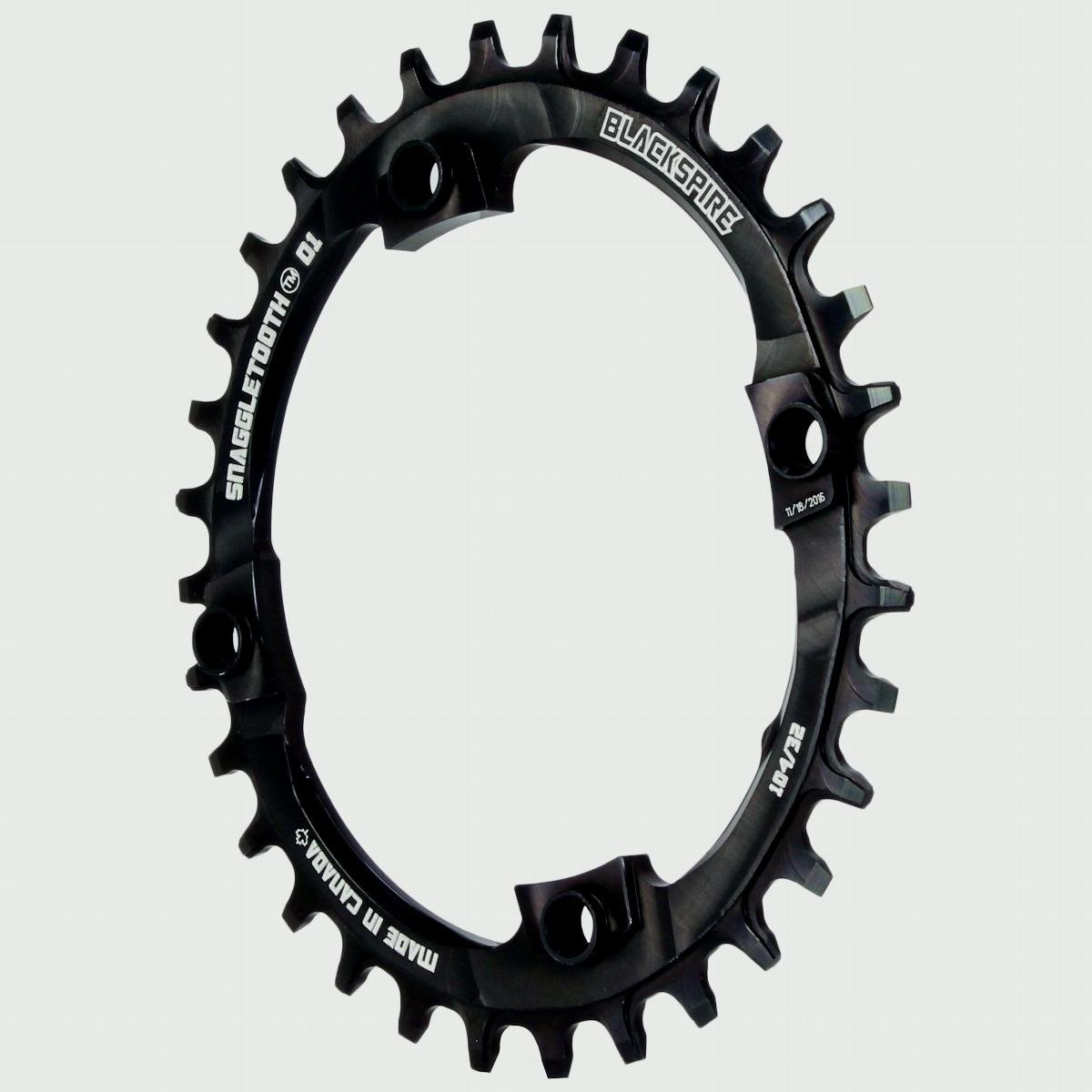 Blackspire Snaggletooth 104BCD Oval chainring 32T - black