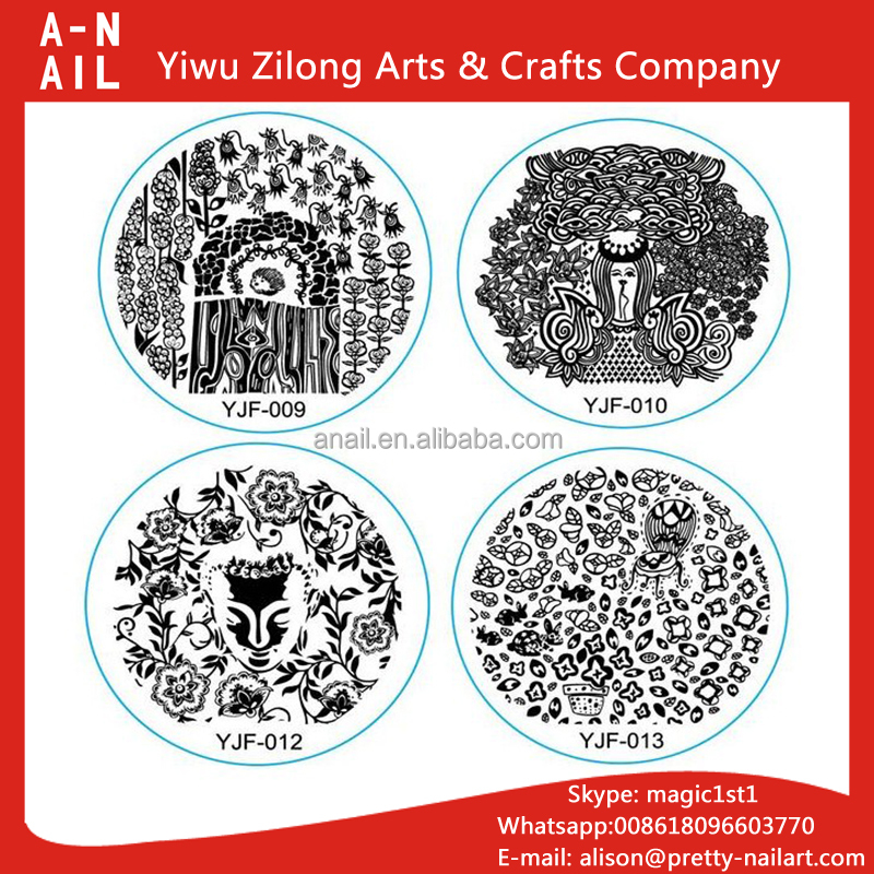 NEW Nail Art Image Transfer Stamping Templates Small Size Flower & Garden Series Stamp Plates Molds for nail art decor