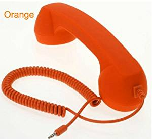 Classic Retro Handset for Cell Phones, iPad 2, iPad, iPhone 4 4G 3GS 3G (AT&T and Verizon), iPod touch (2G 3G 4G), HTC Android EVO, Blackberry, Samsung Galaxy S, Droid (Soft Touch Orange)