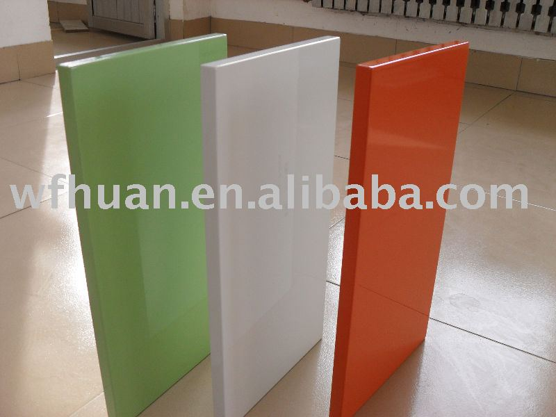 Mdf Pressed 0 45mm High Gloss Pvc Foil Cabinet Door Kitchen Coated Product On