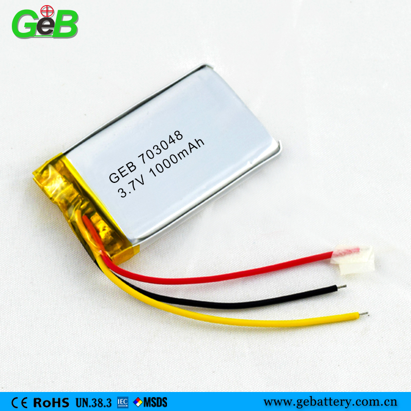 703048 li polymer rechargeable battery 1000mah for electric bicycle