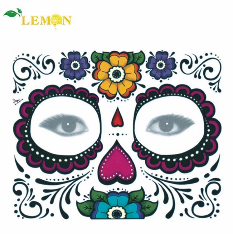 Marke Custom Lieferant Halloween Augen Gesicht Edelsteine Temporäre Tattoos Aufkleber