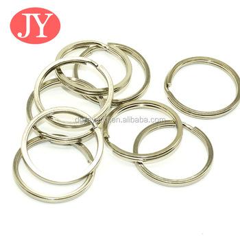 Stainless Steel Flat Key Ring Holder Simple Split Key Rings - Buy ... eac96a9541e3