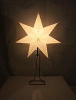 Christmas desk lamp/European paper wooden table lamp/paper star table lamp