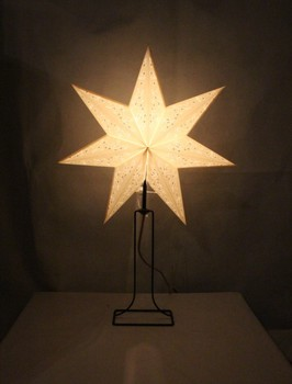 Christmas desk lampeuropean paper wooden table lamppaper star christmas desk lampeuropean paper wooden table lamppaper star table lamp aloadofball Image collections