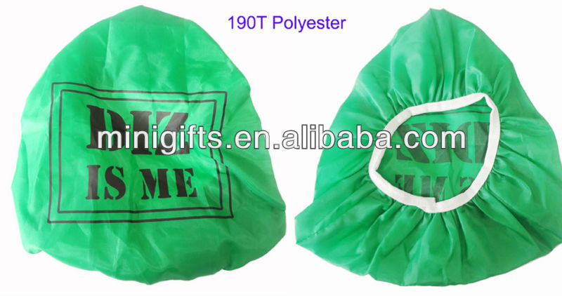 promotional green colour polyester bicycle seat/saddle cover