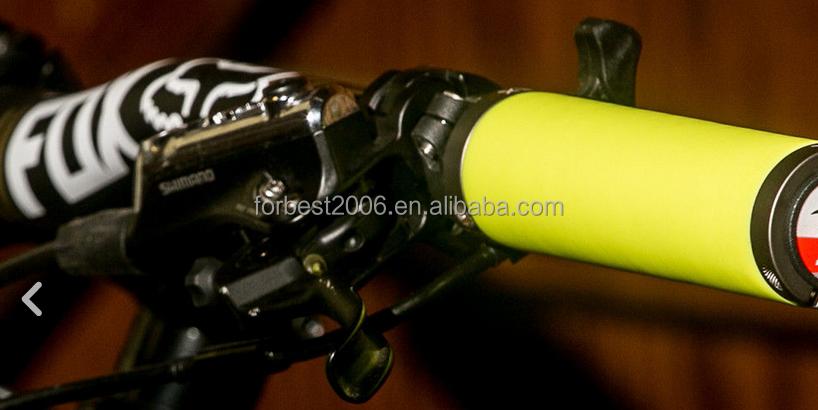 Bicycle Cycling Bike MTB Smooth Black Sponge Tube Foam Rubber Handlebar Grips