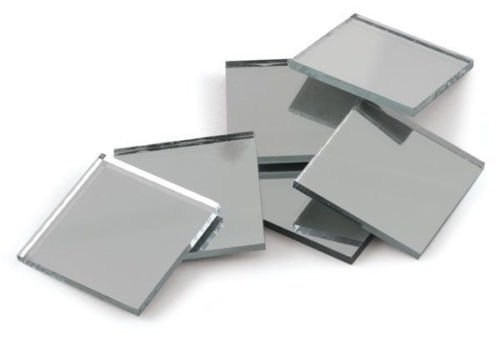 0.75 inch Glass Craft Mini Square Mirrors 15 Pieces Mosaic Mirror Tiles