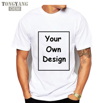 TONGYANG Your OWN Design Brand Logo Picture T Shirts Custom Men and Women T-shirt Blank T Shirt For Printing