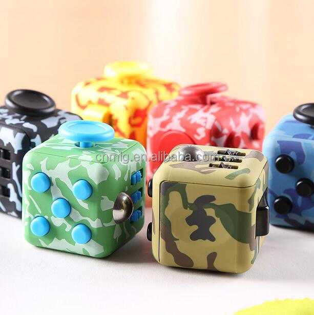 Desk Toy Smooth Button Trending Products Rubber Click Fidget Cube
