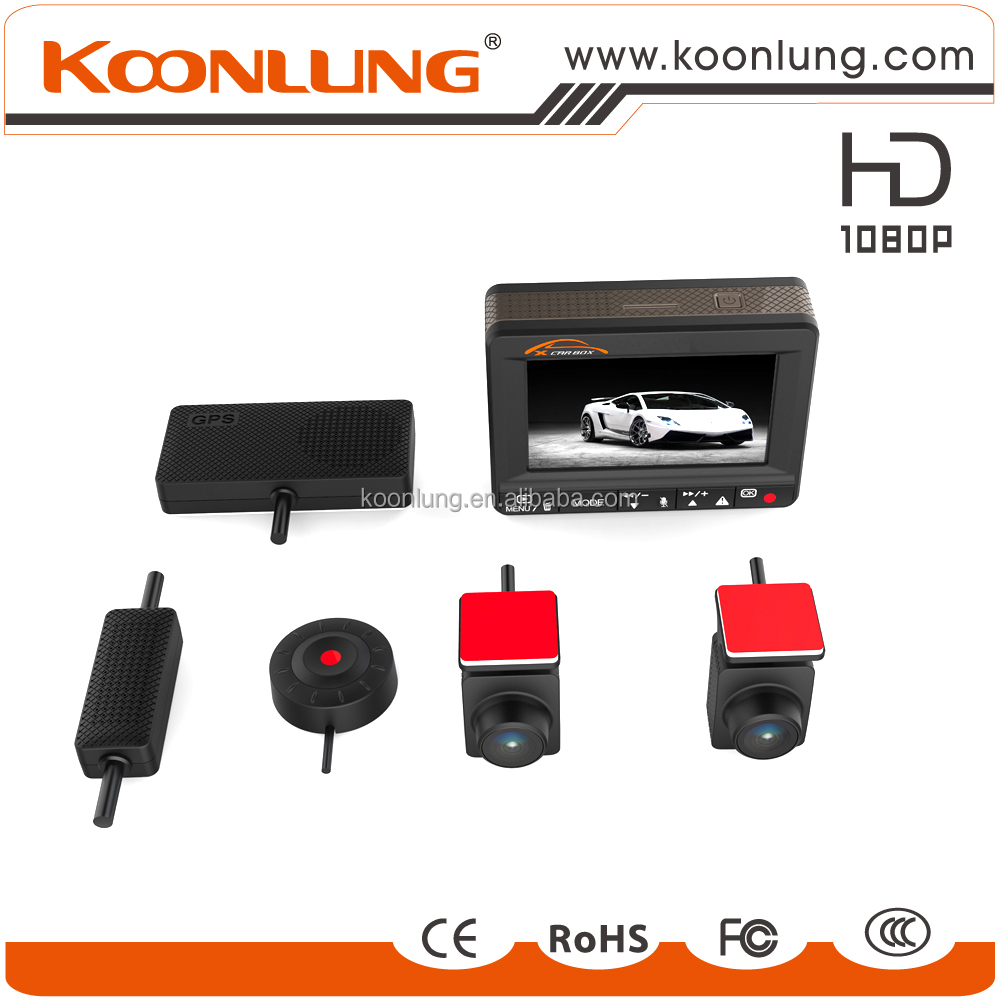 KOONLUNG K1S 2CH detached gps full hd car dvr Ambarella A7 chipset