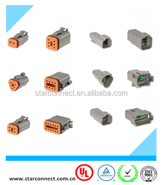 3 way waterproof plugs and receptacles DT series connector kit 20 AWG contacts deutsch connector
