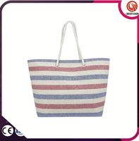 High quality best selling long handle casual shopping bag tote bags canvas bags