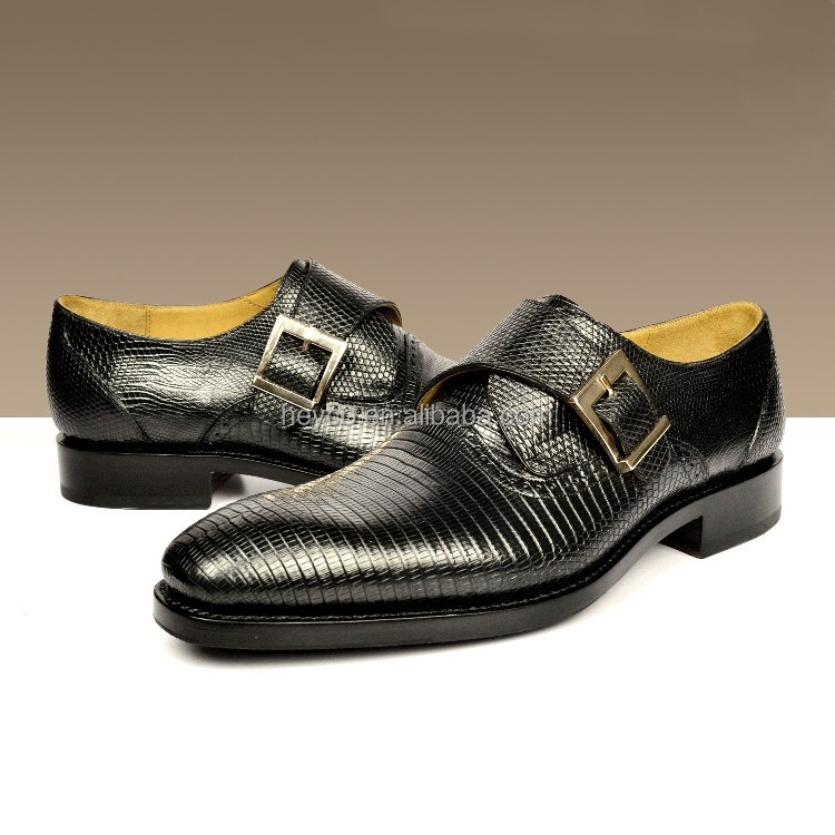 Heyco high quality customization lizard skin patent leather office dress men shoes